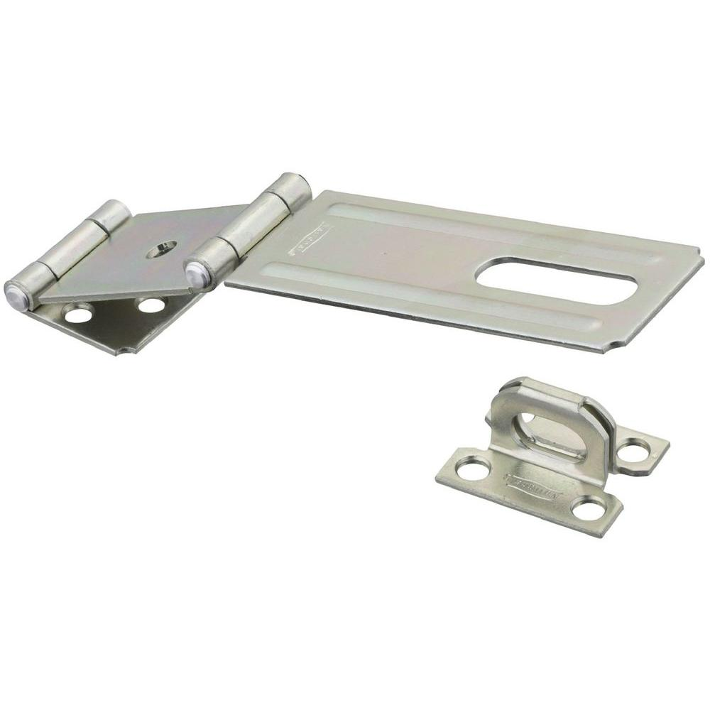 Zinc Plated Double Hinge Safety Hasp-V34 4-1/2 DBL HASP ZN - The Home Depot  sc 1 st  The Home Depot & National Hardware 4-1/2 in. Zinc Plated Double Hinge Safety Hasp-V34 ...