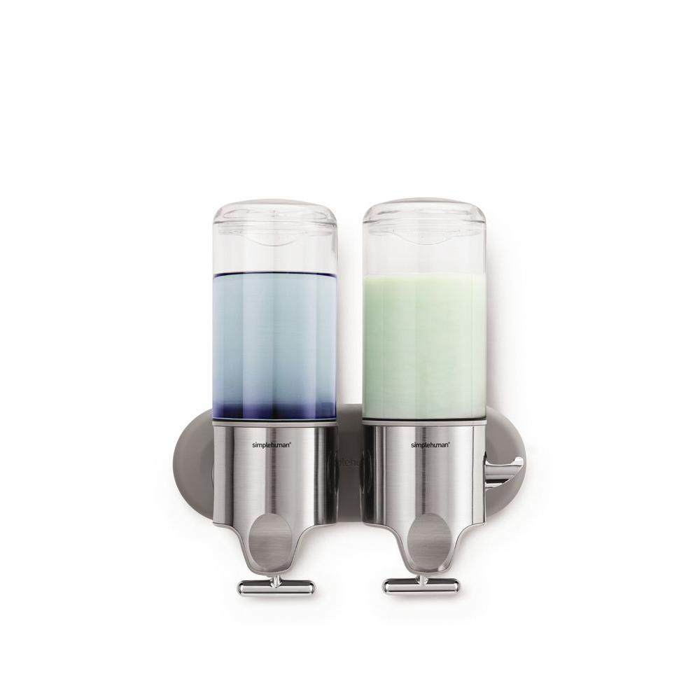 simplehuman 15 fl oz Twin Wall Mount Soap Pump Stainless Steel