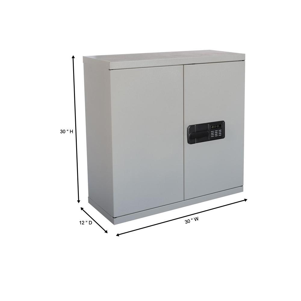 Sandusky 30 In H X 30 In W X 12 In D Steel Wall Mounted Cabinet Storage In Dove Gray Kdew3012 05 The Home Depot