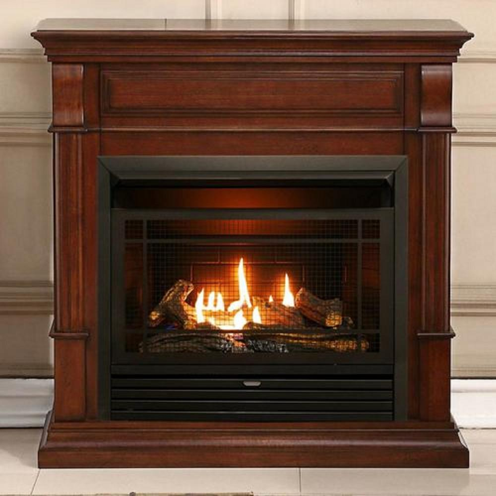Duluth Forge 40 In Ventless Dual Fuel Gas Fireplace Auburn