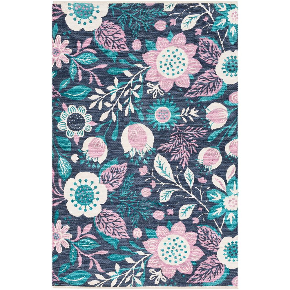 Elaine Levi Teal 4 ft. x 6 ft. Indoor Area Rug