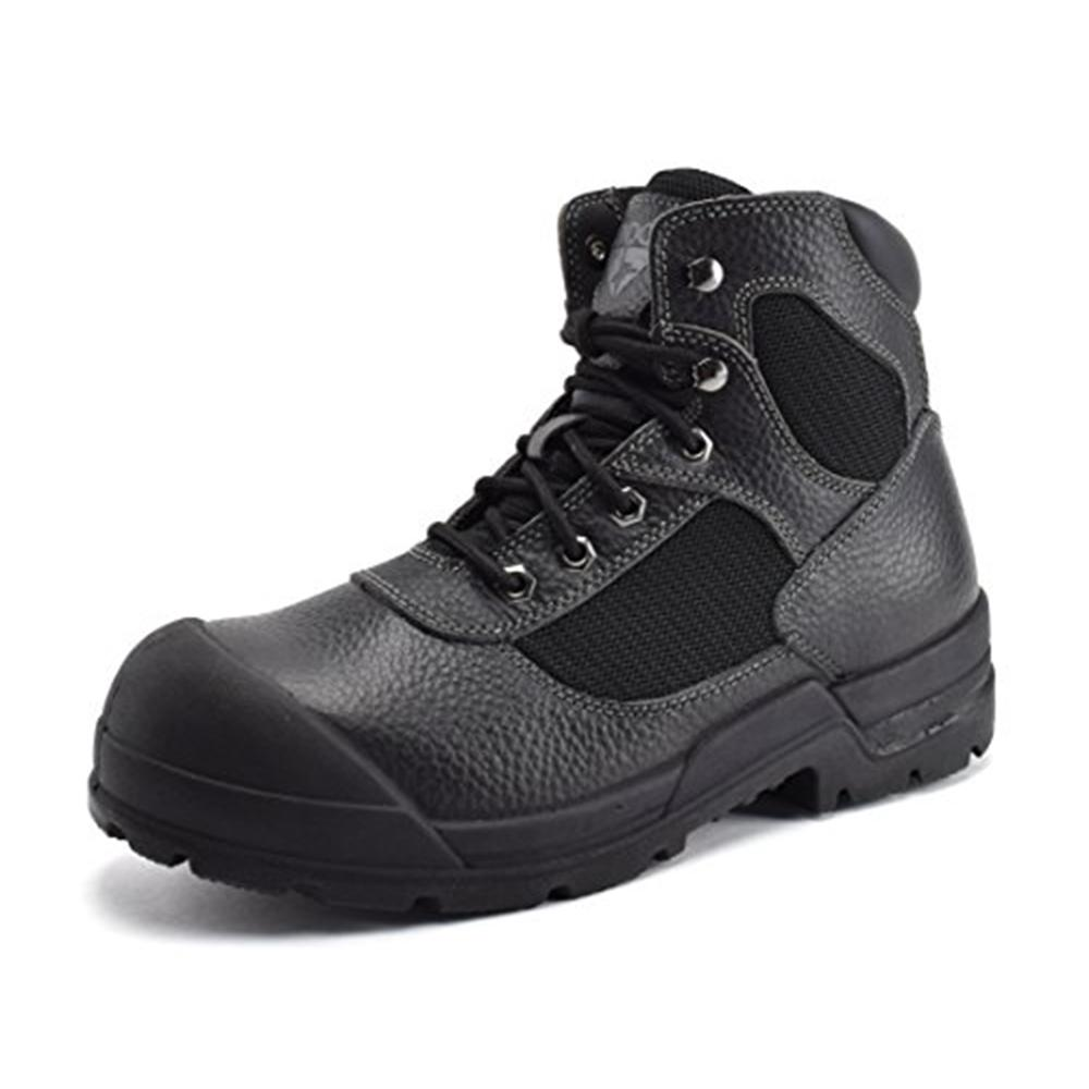 CONDOR Men's 6'' Work Boots Steel Toe Black Size 7(W)