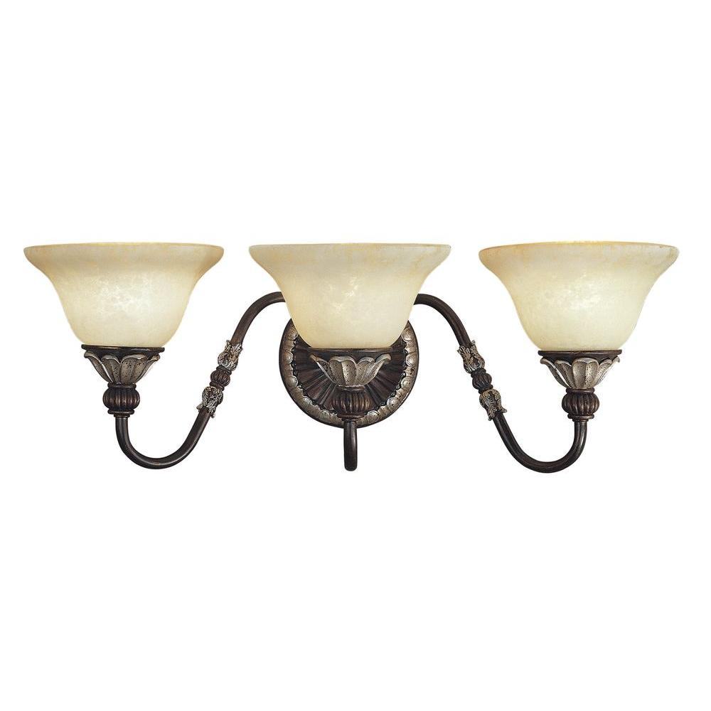 Livex Lighting Providence 3 Light Hand Rubbed Bronze With