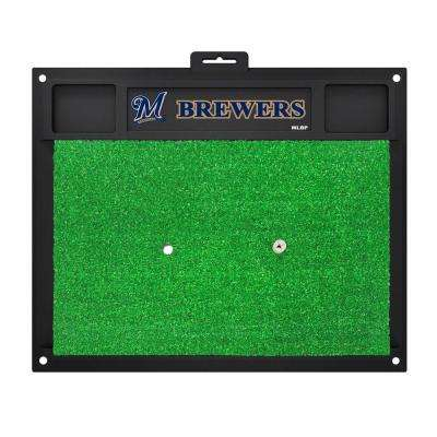 MLB - Milwaukee Brewers 20 in. x 17 in. Golf Hitting Mat