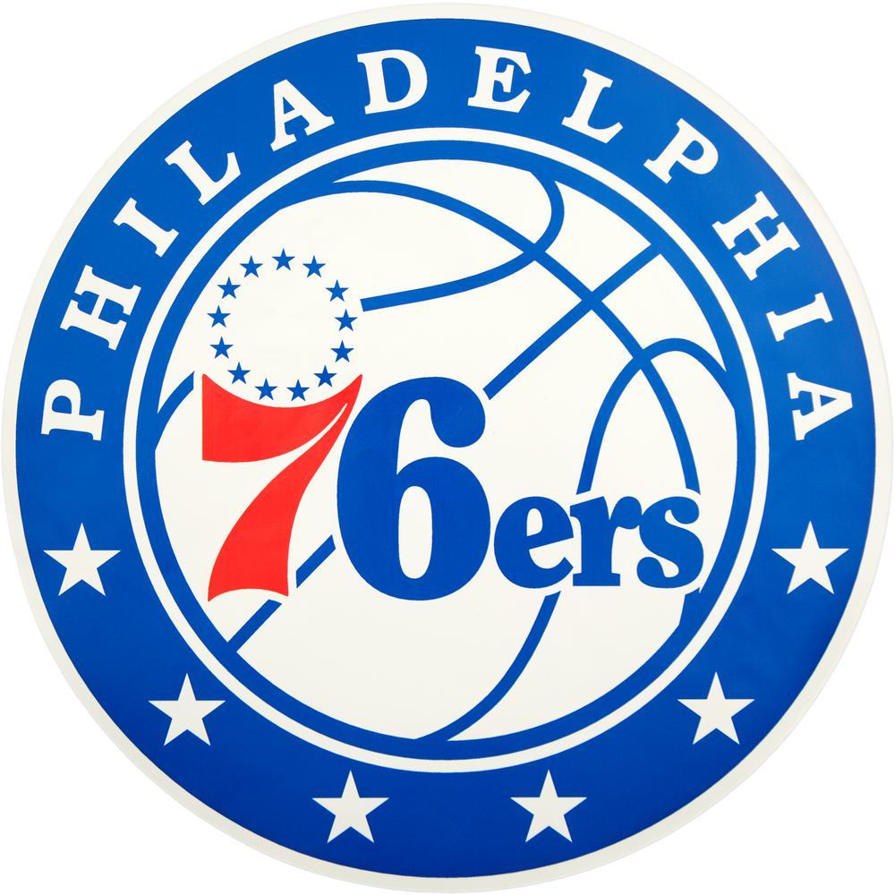Applied Icon Nba Philadelphia 76ers Outdoor Logo Graphic Large