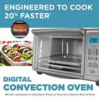 BLACK+DECKER 1500 W 6-Slice Stainless Steel Countertop Toaster Oven with Built-In Timer