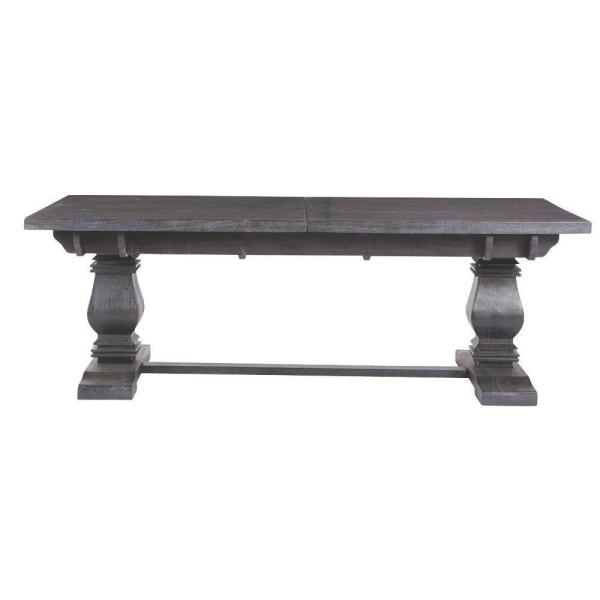 Home Decorators Collection Aldridge Washed Black Extendable Dining Table NB023WB
