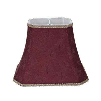 Red lamp shades lamps the home depot red rectangle cut corner bell lamp shade aloadofball Choice Image