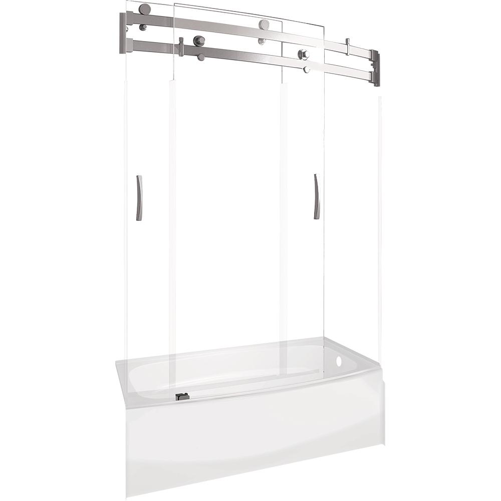 Delta Classic 400 Curve 30 in. x 60 in. x 80 in. Bath and Shower Kit ...