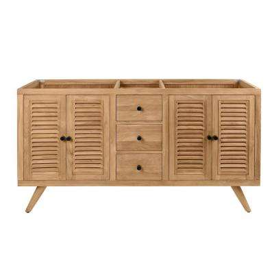 Harper 60 in. Vanity Cabinet Only in Natural Teak