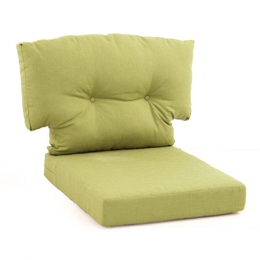 Hampton Bay Green Bean Replacement Cushion For The Martha Living Charlottetown Outdoor Swivel Chair