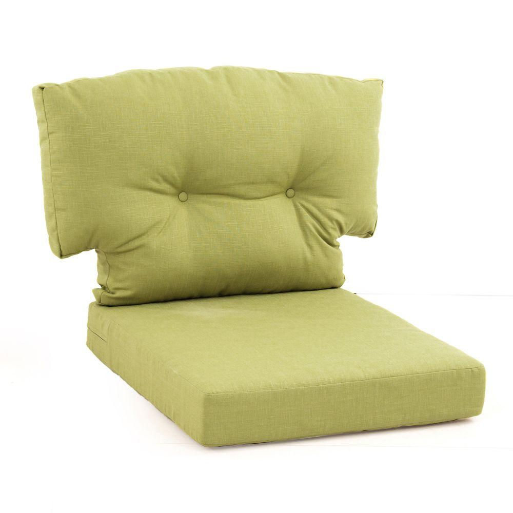 Martha Stewart Living Charlottetown Green Bean Replacement Outdoor Swivel Chair  Cushion