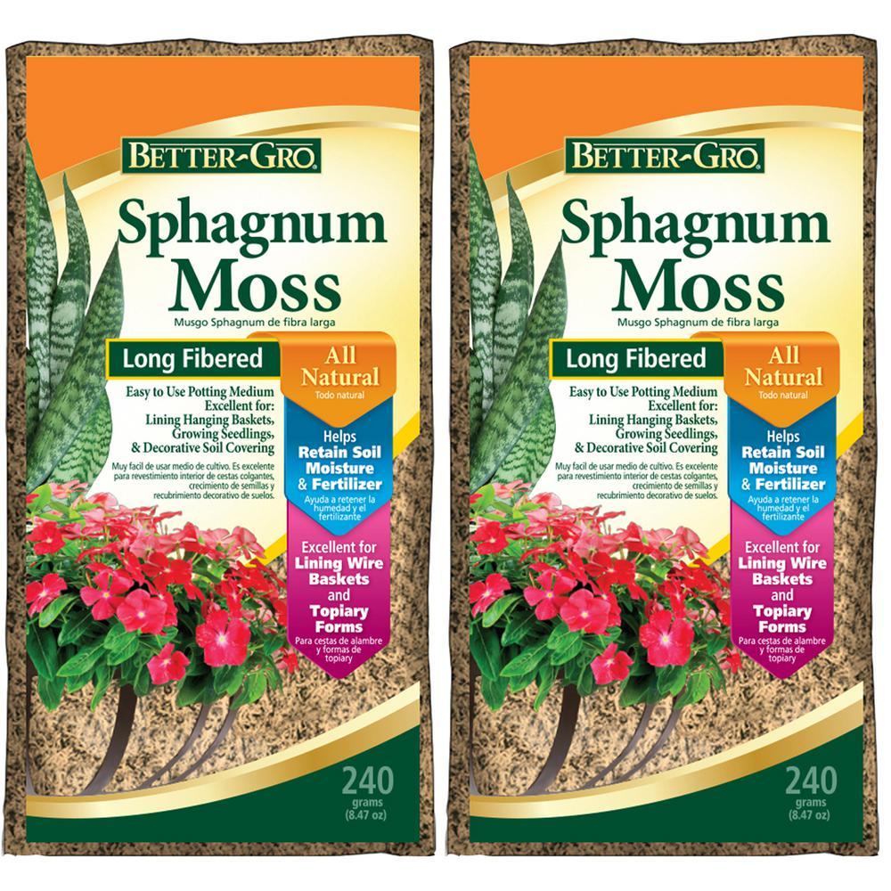 240 g Sphagnum Moss (2-Pack)