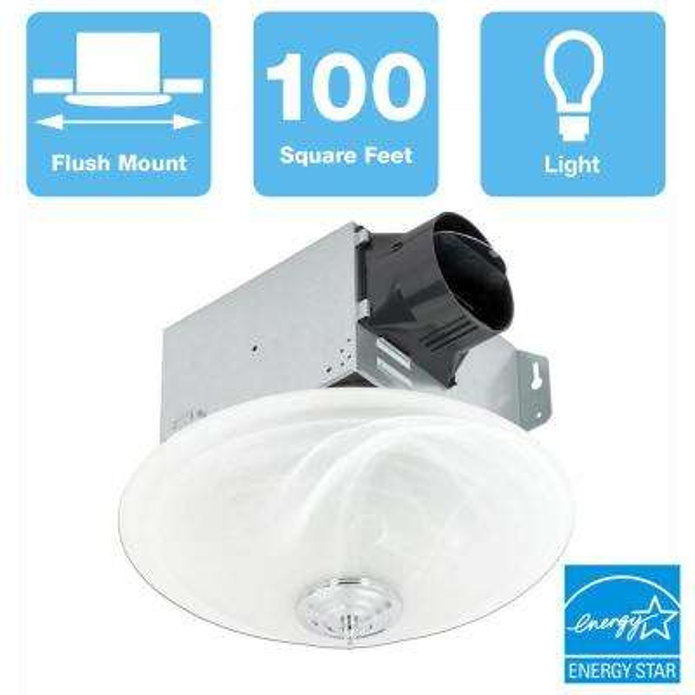 GreenBuilder Series 100 CFM Ceiling Mount Bathroom Exhaust Fan, ENERGY STAR
