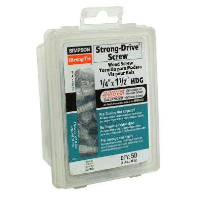 1/4 in. x 1-1/2 in. Strong-Drive Wood Screw (50-Pack)