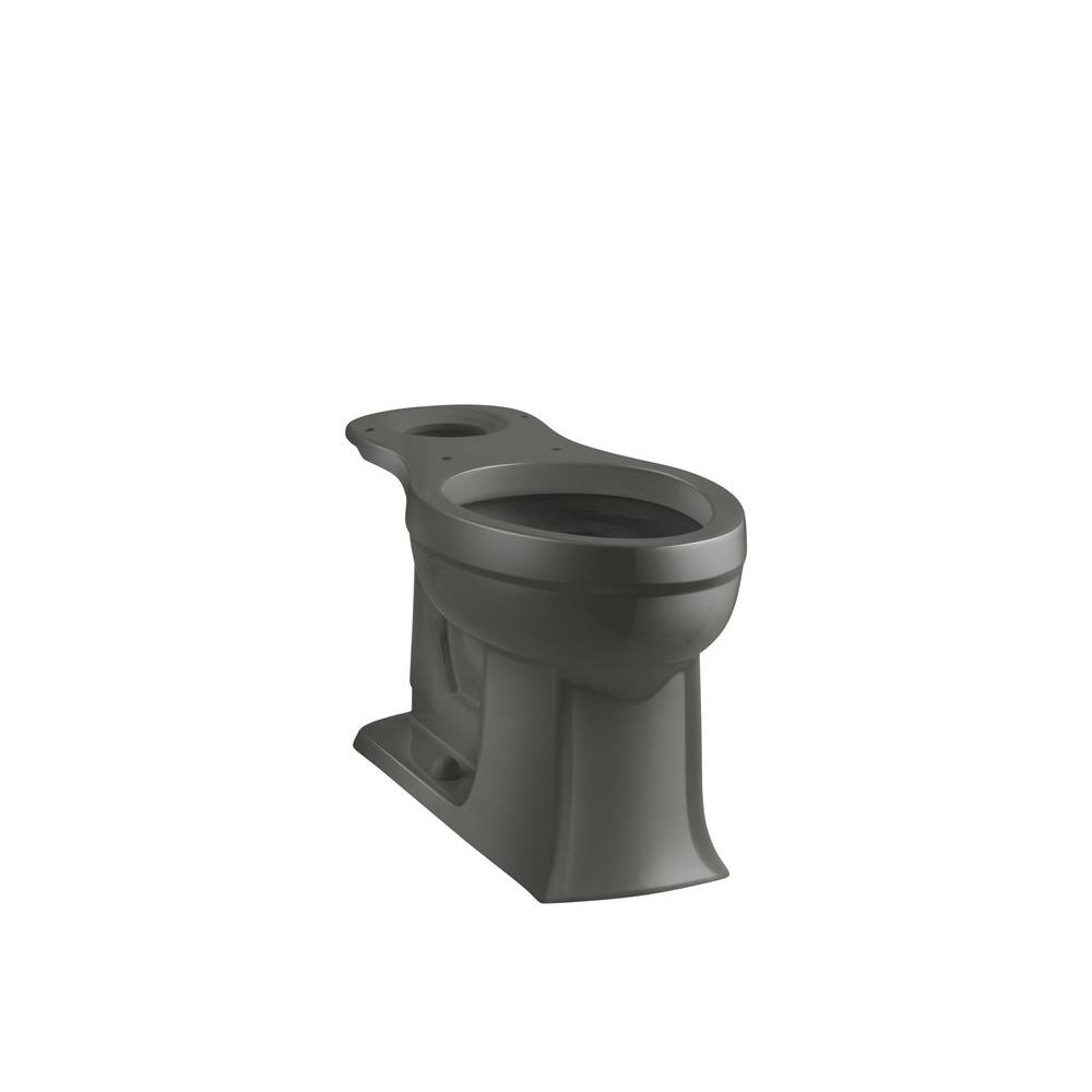Archer Comfort Height Elongated Toilet Bowl Only in Thunder Grey