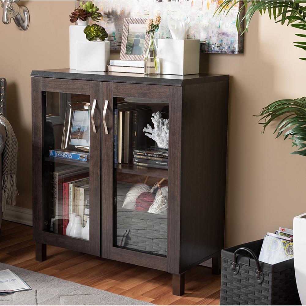 Sintra Dark Brown Storage Cabinet