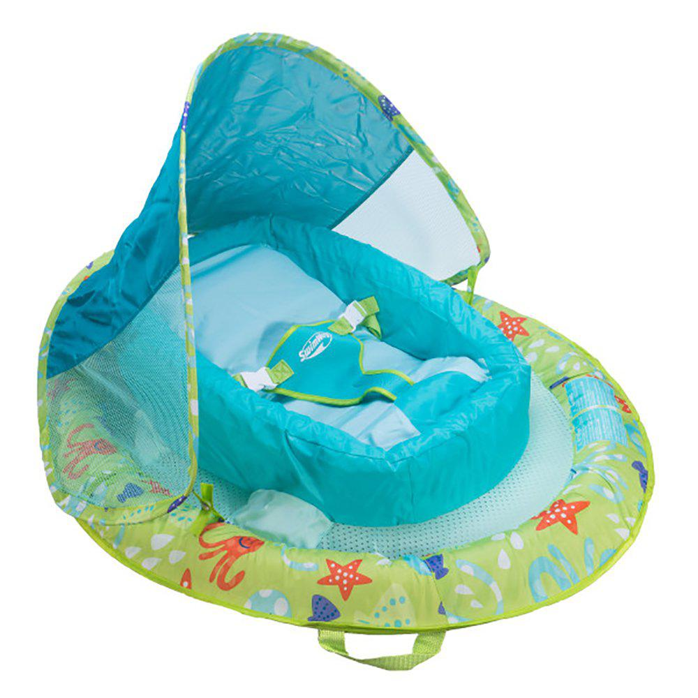 SwimWays Green Nylon Oval Infant Spring Float Inflatable Swimming Pool  Float with Canopy