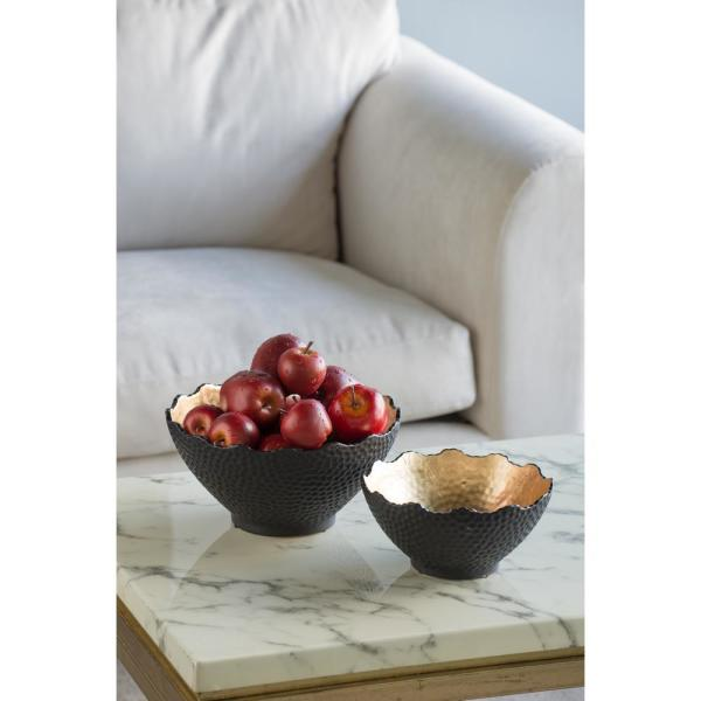 Metro Gold and Black Decorative Bowl