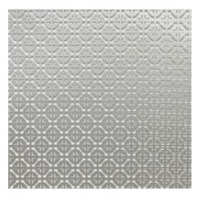 12 in. x 24 in. Silver Mosiac Aluminum Hobby Sheet Sleeved