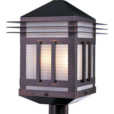 Gatsby 2-Light Burnished Outdoor Pole/Post Mount