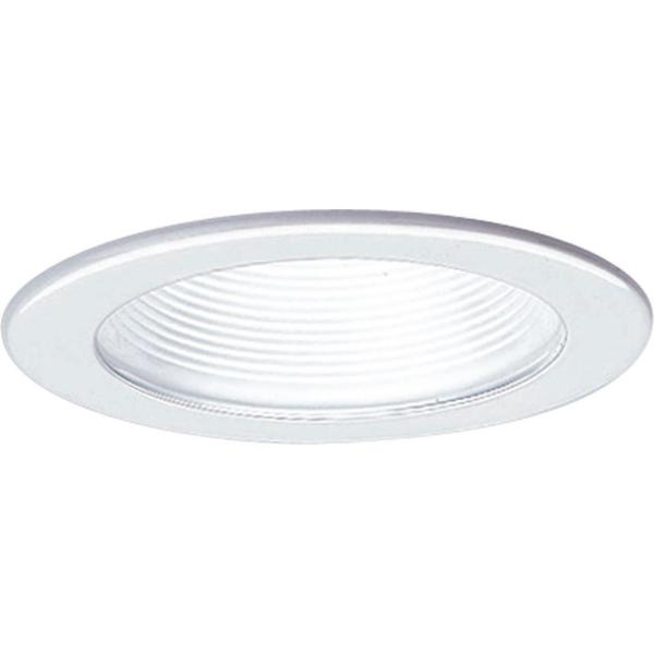 Progress Lighting 4 In 12 Volt White Recessed Baffle Trim P8037 28 The Home Depot