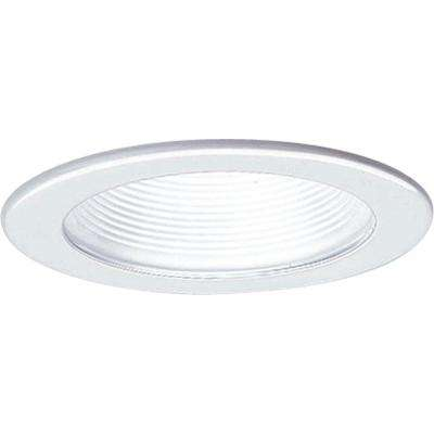 4 in. 12-volt White Recessed Baffle Trim