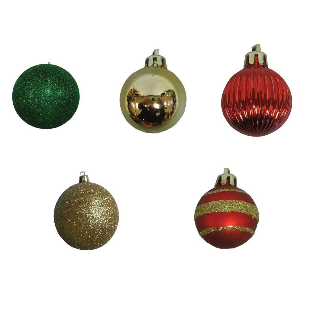 null 35 mm Red, Gold and Green Mini-Ornament (Set of 20)