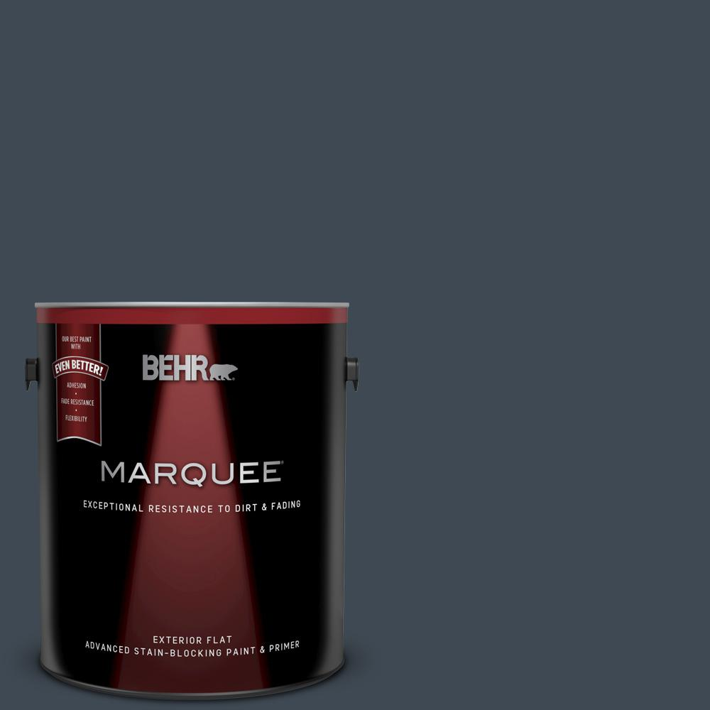 Behr Marquee 1 Gal Bxc 26 New Navy Blue Flat Exterior Paint And