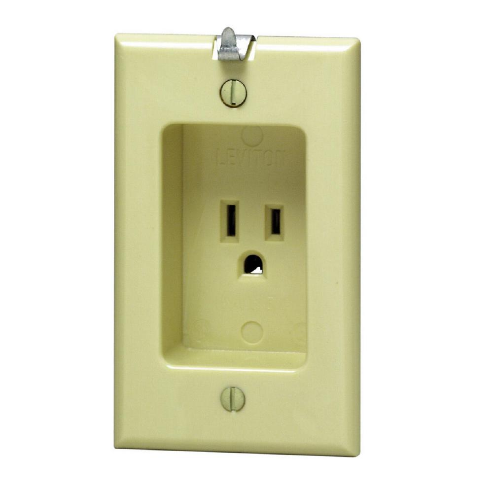 Leviton 15 Amp Residential Grade 1-Gang Recessed Single O...