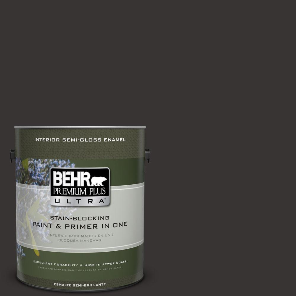 BEHR Premium Plus Ultra 1-gal. #ECC-27-3 Evening Canyon Semi-Gloss Enamel Interior Paint