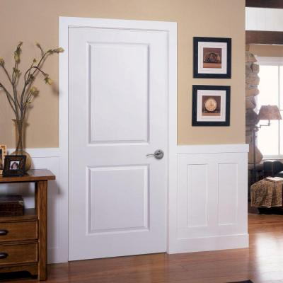 30 in. x 80 in. 2-Panel Square Top Right-Handed Hollow-Core Primed Composite Single Prehung Interior Door