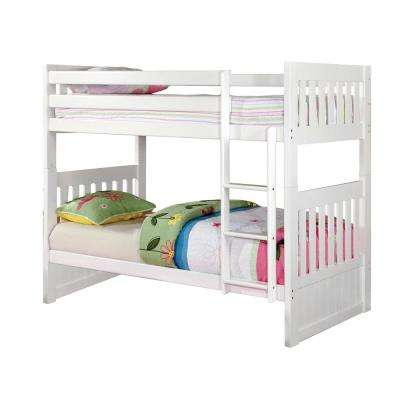 Canberra II Twin Bunk Bed in White
