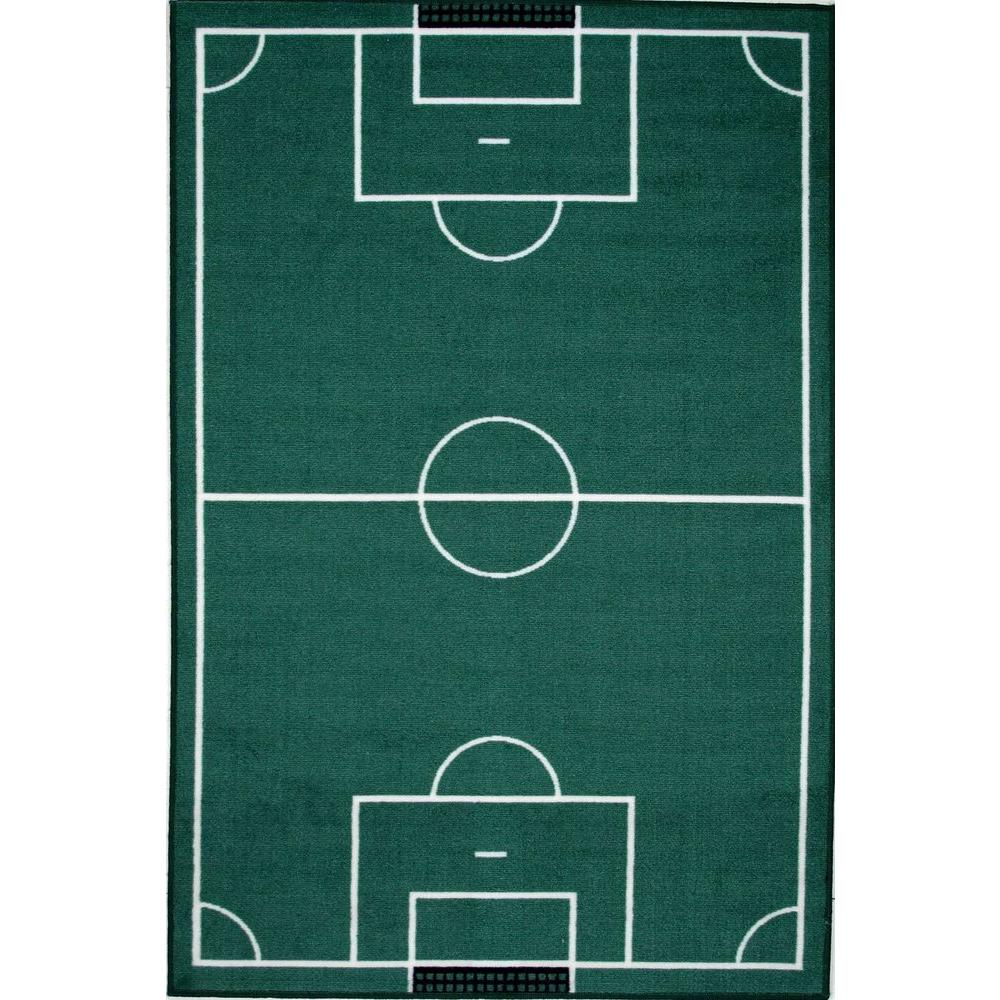 La Rug Fun Time Soccerfield Multi Colored 3 Ft X 5 Ft Area Rug Ft