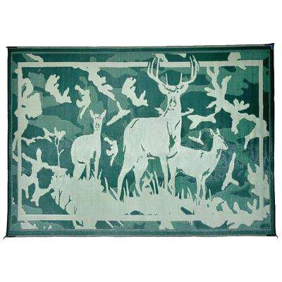 8 ft. x 11 ft. Deer Camo/Green Reversible Mat