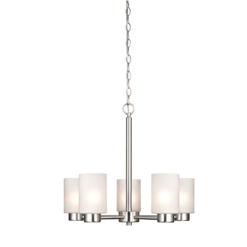 Westinghouse sylvestre 5 light brushed nickel chandelier 6227400 westinghouse sylvestre 5 light brushed nickel chandelier mozeypictures Images