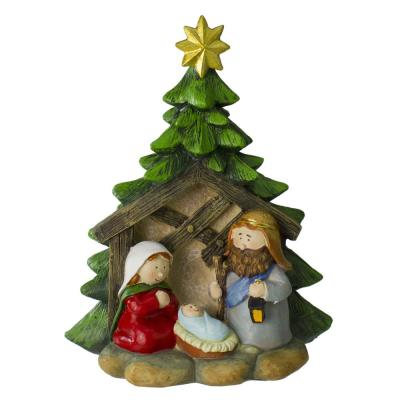 9.25 in. Christmas Children's First Tabletop Nativity Scene Decoration
