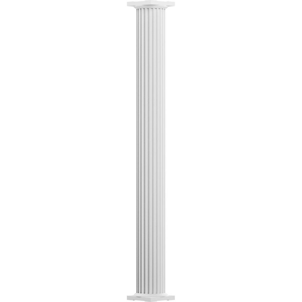 6 in. x 8 ft. Primed Non-Tapered Fluted Round Shaft Endura-Aluminum
