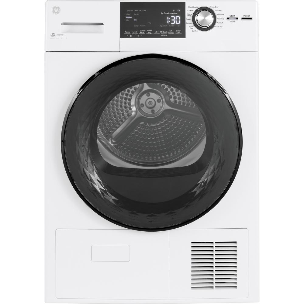 GE 4.1 cu. ft. 240-Volt White Electric Ventless Dryer