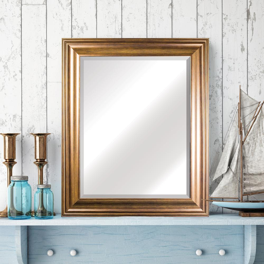Lena Rectangular Gold Vanity Mirror