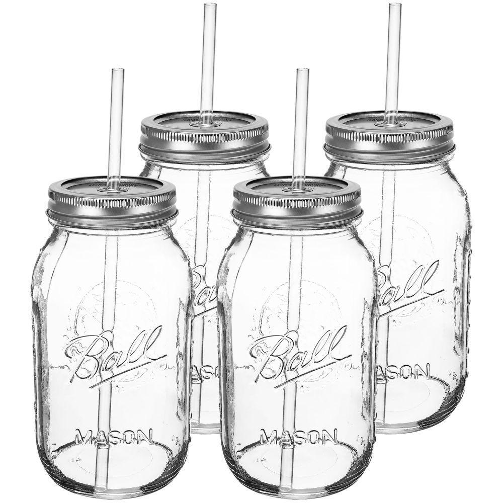 Southern Homewares 32 oz. Redneck Guzzler Drinking Sipping Mason Jar with
