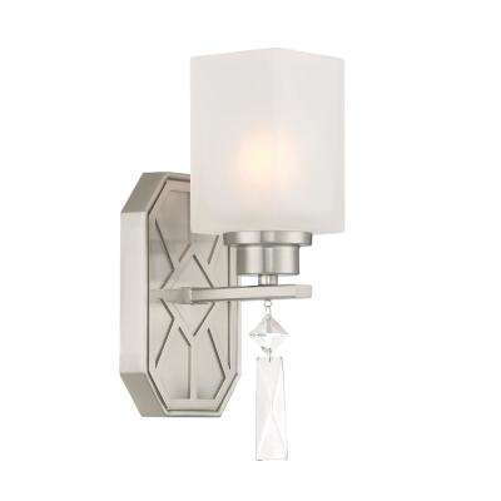 Brentwood 1-Light Satin Platinum Wall Sconce