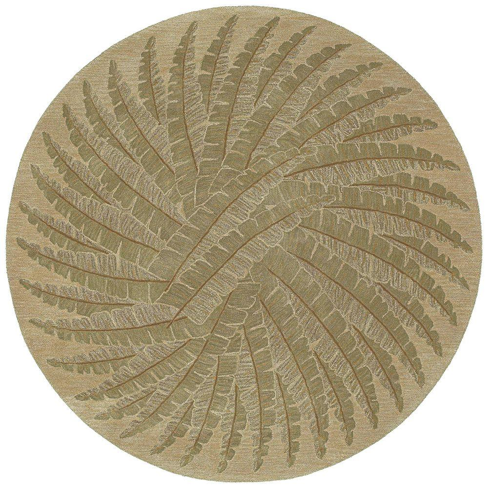 Kaleen Tara Pablo Gold 5 ft. 9 in. x 5 ft. 9 in. Round Area Rug