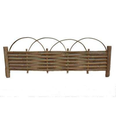 48 in. x 14 in. Trellis Brown Bamboo Edging