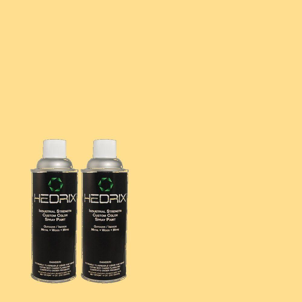 Hedrix 11 oz. Match of 1A12-3 Creamed Butter Semi-Gloss Custom Spray Paint (2-Pack)
