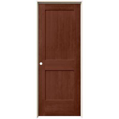 24 in. x 80 in. Monroe Amaretto Stain Right-Hand Solid Core Molded Composite MDF Single Prehung Interior Door