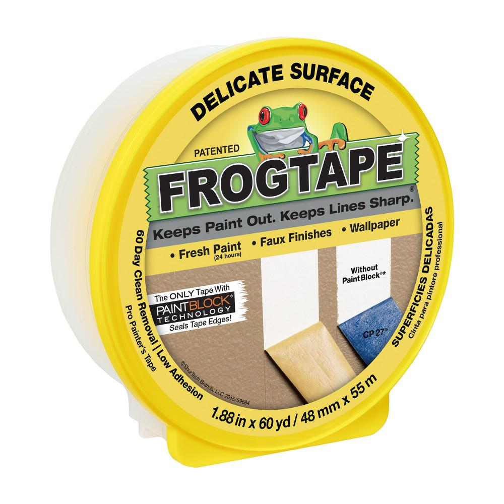FrogTape Delicate Surface 1.88 in. x 60 yds. Yellow Painter's Tape with PaintBlock