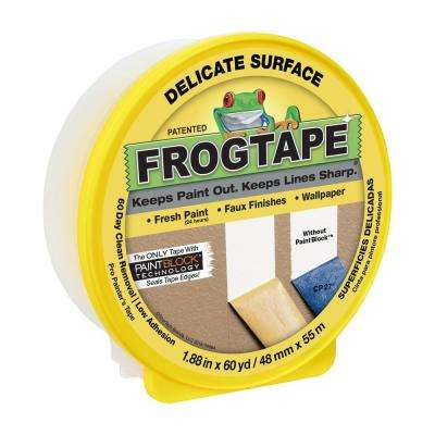1.88 in. x 60 yds. Yellow Multi-Surface Delicate Masking Tape