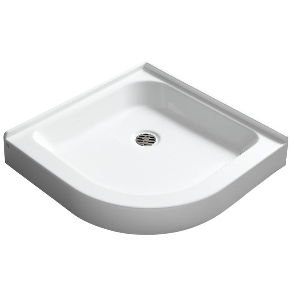ANZZI Randi 36 in. x 36 in. Double Threshold Shower Base in White