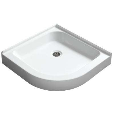 Randi 36 in. x 36 in. Double Threshold Shower Base in White